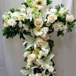 """Standing Cross"" Floral Arrangement"